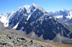 La Russia, le cime della montagna di Altai della cresta del nord di Chuya in tempo soleggiato Fotografia Stock Libera da Diritti