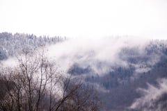 La Russia Montagne di Soci Adler in nebbia fotografia stock