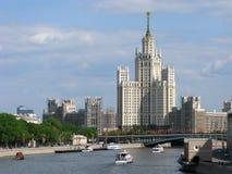 La Russia, Mosca, grattacielo dell'epoca di Stalin Fotografia Stock Libera da Diritti