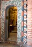La Russia, Mosca, interno dipinto della cattedrale del ` s del basilico della st Immagine Stock Libera da Diritti