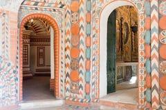 La Russia, Mosca, interno dipinto della cattedrale del ` s del basilico della st Fotografia Stock Libera da Diritti