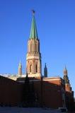 La Russia, Mosca Kremlin Torre con la stella rossa Fotografie Stock Libere da Diritti