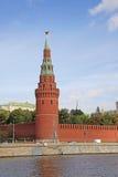 La Russia, Mosca Kremlin Torre con la stella rossa Fotografia Stock Libera da Diritti
