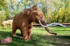 La Russia, Mosca - 29 settembre 2018: Mammut a grandezza naturale enorme fotografia stock