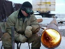 La RUSSIA, NADYM - 23 novembre 2013: Orporation GAZPROM del ¡ di Ð in Novy Immagine Stock