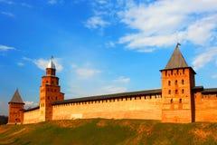 La Russia, Novgorod Vecchia fortezza kremlin Immagine Stock