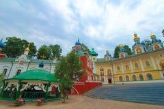 La Russia, Pechory Il monastero delle Pskov-caverne Fotografie Stock Libere da Diritti