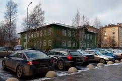 La Russia Petrozavodsk Via Petrozavodsk nel pomeriggio 15 novembre 2017 Immagini Stock