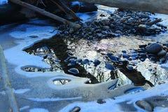 La Russia Primavera russa della foresta in Russia bella natura, il fiume nell'inverno, bei modelli, chiara acqua Fotografie Stock Libere da Diritti