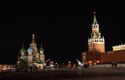 La Russia. Quadrato rosso, notte Fotografia Stock Libera da Diritti