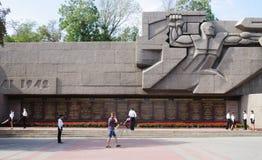 LA RUSSIA, SEBASTOPOLI - SETTEMBRE 18,2014: Memoriale di difesa eroica di Sebastopoli 1941-1942 anni Fotografia Stock