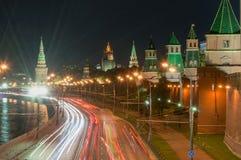 La Russia Sera a Mosca Vista di notte del Immagine Stock