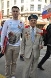 La Russia sopra può 9 70 anni di vittoria sopra fascismo Fotografia Stock
