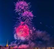 La Russia, St Petersburg, 07/30/2012 di saluto festivo al giorno di Fotografie Stock