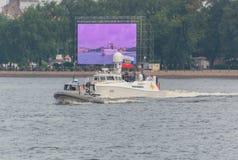 La Russia, St Petersburg, il 30 luglio 2017: Presidente Putin 001 sopra fotografie stock