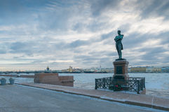 La Russia, st PetersburgMonument SE Kruzenshtern Fotografie Stock Libere da Diritti