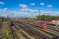La Russia Stazione ferroviaria vicino a Arzamas 2 Immagini Stock Libere da Diritti