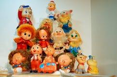 La Russia Toy Museum nel deposito centrale del ` s dei bambini 11 febbraio 2018 Fotografie Stock Libere da Diritti
