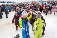 La Russia, Uglic, il 7 febbraio Il festival di Immagini Stock