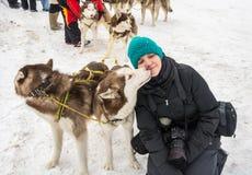 La Russia, Uglic, il 7 febbraio Il festival di Fotografie Stock