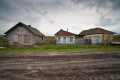 La Russia villaggio fotografie stock