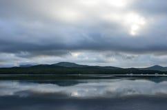 La Russia, Vladivostok, isola di Russky del Russo in maltempo immagini stock libere da diritti