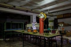 La Russia, Voronež - CIRCA 2017: Rifugio antiaereo sotterraneo abbandonato Fotografia Stock