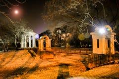 La Russia yekaterinburg Giardino di Kharitonovsky nell'inverno fotografia stock