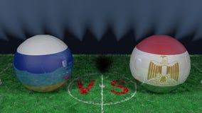 La Russie contre la coupe du monde 2018 de l'Egypte la FIFA Image 3D originale Photographie stock libre de droits