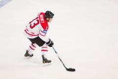 La Russie contre le Canada. Championnat 2010 du monde Images libres de droits