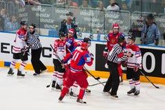 La Russie contre le Canada. Championnat 2010 du monde Image libre de droits