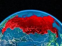 La Russie de l'espace la nuit Image libre de droits