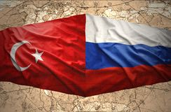 La Russie et la Turquie Photo libre de droits