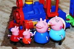 La Russie, Izhevsk le 30 septembre 2017 Porc de Toy Peppa Photographie stock libre de droits