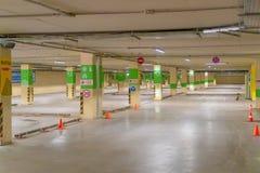 La Russie, Kazan - 10 mai 2019 Stationnement souterrain lumineux sans voitures image libre de droits