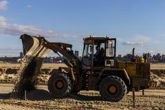 La Russie, Kazan, peut 1, 2018, tracteur de chantier de construction, éditorial photos libres de droits