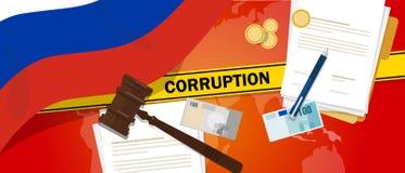 La Russie lutte la ligne de police de contrat de loi financière de corruption d'argent de corruption pour un fonctionnaire de gou Images stock