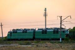 La Russie, Merzhanovo : Le 22 août 2018 : Locomotive électrique avec a images libres de droits