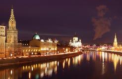 La Russie, Moscou, nuit Photographie stock libre de droits