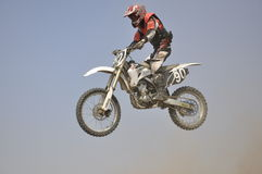 La Russie, motocross de Samara, air de vol de curseur Photos stock