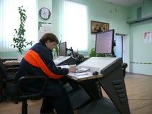 LA RUSSIE, NADYM - 6 JUIN 2011 : Orporation GAZPROM de ¡ de Ð dans Novy Ureng Photo stock