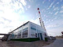 LA RUSSIE, NADYM - 6 JUIN 2011 : Orporation GAZPROM de ¡ de Ð dans Novy Ureng Images libres de droits
