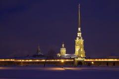 La Russie : Peter et forteresse de Paul Images stock