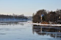 La Russie Région de la Russie Léningrad, hiver photo libre de droits