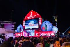 La Russie, Rostov On Don, le 21 juin 2018 : Éventez la zone à Rostov-On-Don pour le monde Cup-2018 situé sur la place de théâtre  Photos stock