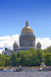 La Russie. Rue - Pétersbourg. Cathédrale d'Isaakievsky. Photo stock