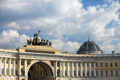 La Russie, St Petersburg, grand dos de palais Images libres de droits