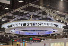 La Russie, St Petersburg, juin 2017 - forum économique international de St Petersburg images stock