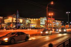 La Russie, St Petersburg, 27,01,2013 le centre commercial moderne Image stock