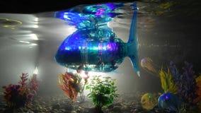 La Russie, St Petersburg, le 8 novembre 2018 ville d'exposition des robots - le robot de poissons nage dans l'aquarium clips vidéos